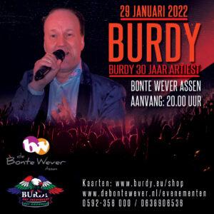 Burdy 30 jaar artiest